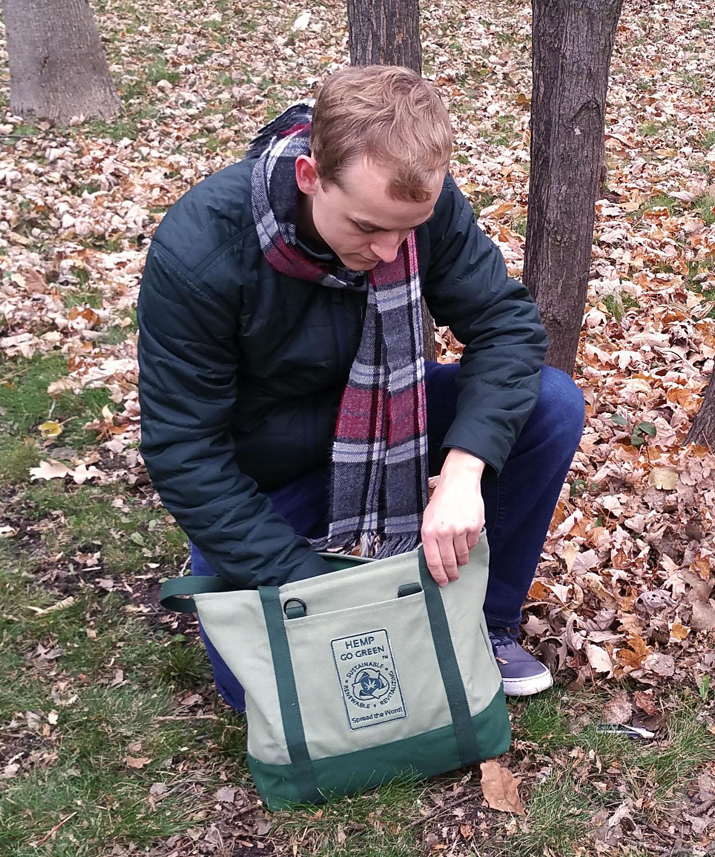 20 oz Hemp Canvas Designed and Constructed to Last Hemp Go Green\u00ae 100/% Hemp Canvas Heavy-Duty Zippered Tote Bag Hemp Canvas EDC Bag