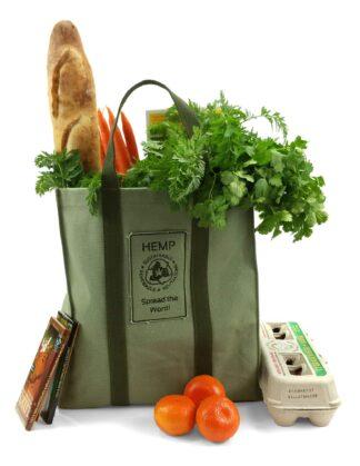 Hemp Go Green Heavy-Duty Reusable Shopping Bag
